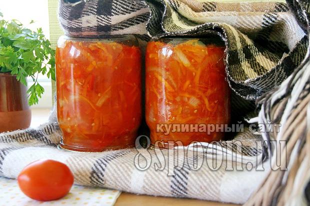 Лечо с морковью и луком рецепт с фото_10