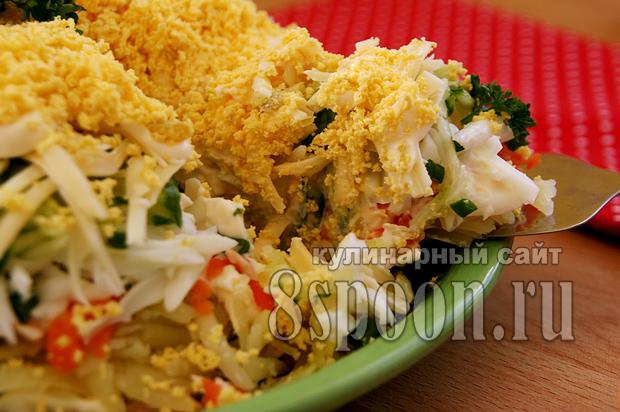 Салат с рыбными консервами фото 11