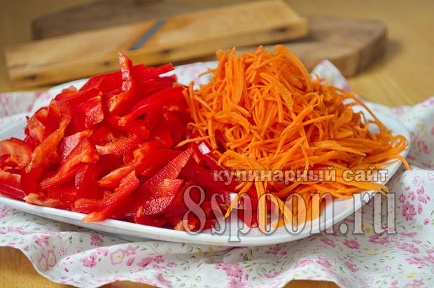 Корейский салат из помидор и болгарского перца — 7