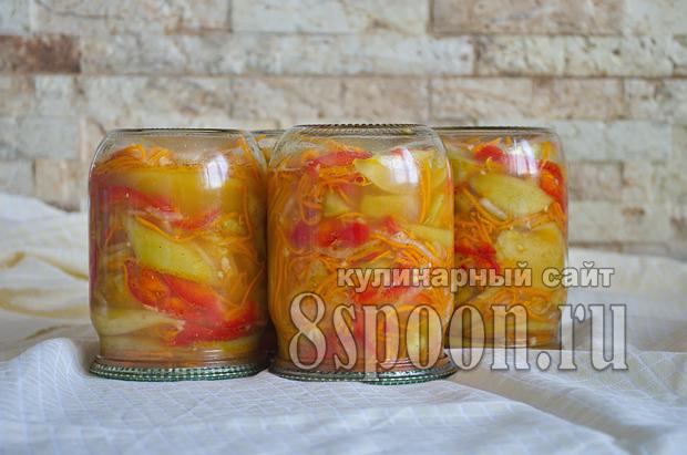 Зеленые помидоры по-корейски на зиму
