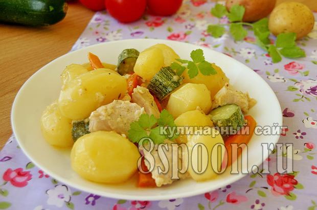 Куриное филе в духовке с картошкой фото_1