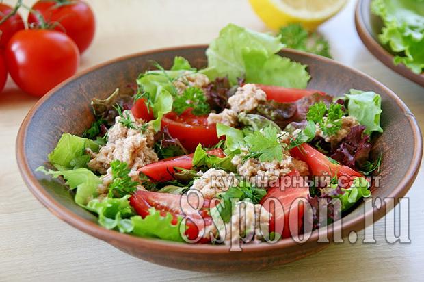 Салат с тунцом и помидорами: рецепт с фото