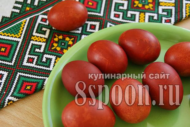 Как красить яйца в луковой шелухе фото_9