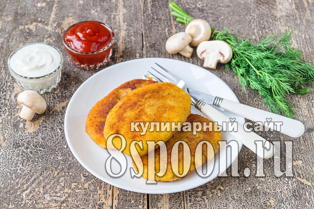 Зразы картофельные с грибами: рецепт с фото