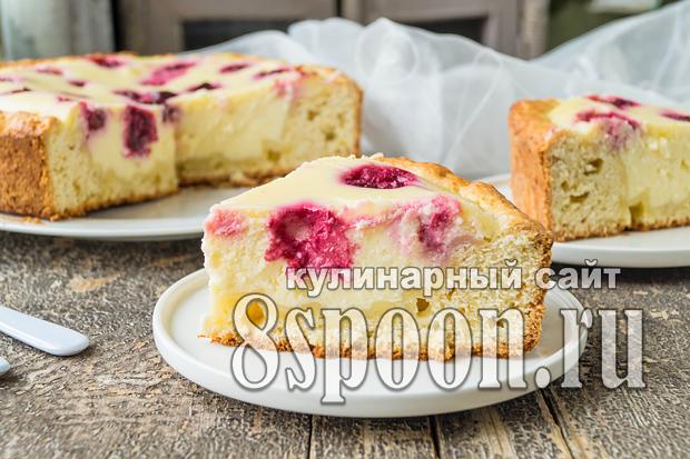 Песочный пирог с творогом и вишней фото, фото рецепт Песочного пирога с творогом и вишней