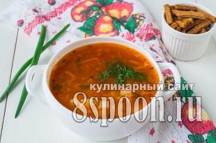Фасолевый суп из консервированной фасоли