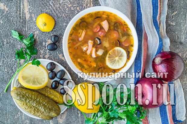 Солянка: рецепт с колбасой пошаговый рецепт