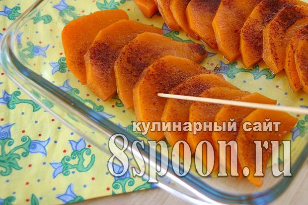 Тыква запеченная с медом в духовке