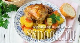Курица с картошкой в рукаве в духовке фото_05