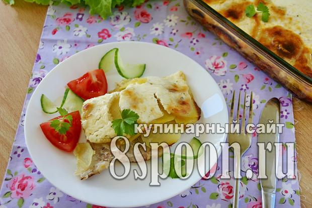 Мясо по-французски с картошкой в духовке фото_05