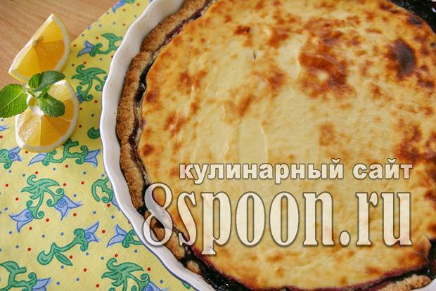 Черничный пирог рецепт с фото _01