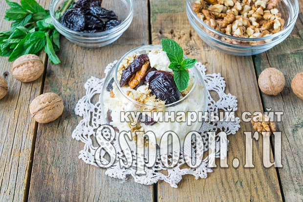 Чернослив с грецким орехом в сметане фото_5