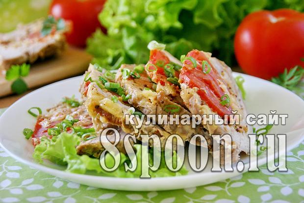 Мясо гармошка в духовке из свинины фото_01