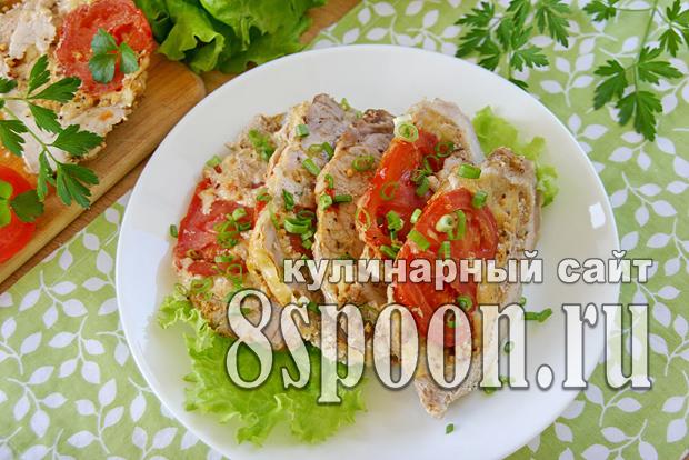 Мясо гармошка в духовке из свинины фото_03