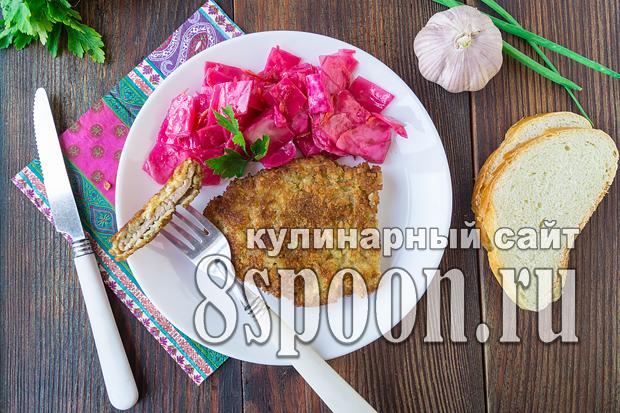 Шницель из свинины на сковороде фото, фото рецепт Шницеля из свинины на сковороде