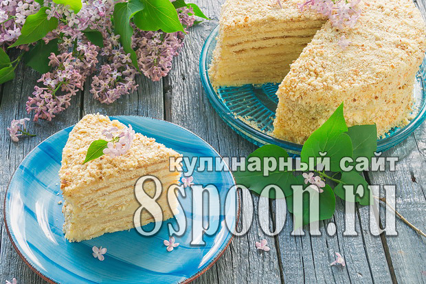 Торт на сковороде со сгущенкой рецепт с фото _16