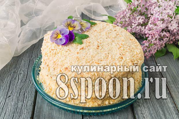 Торт на сковороде со сгущенкой рецепт с фото _18