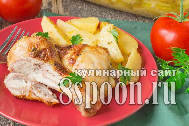 Курица в кефире в духовке: рецепт с фото