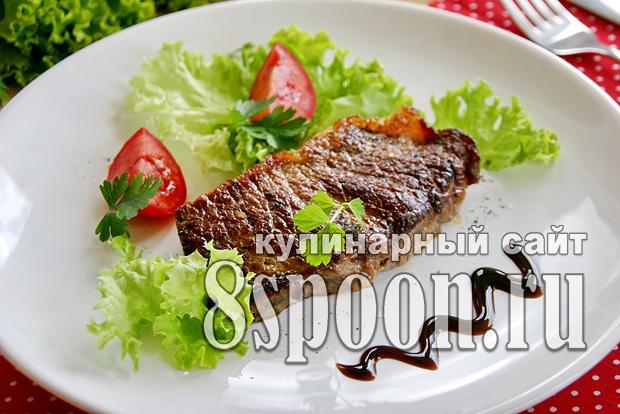 Стейк из говядины на сковороде фото, фото рецепт Стейка из говядины на сковороде