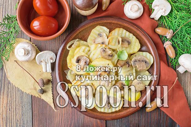 Картофель с грибами в духовке  фото 2