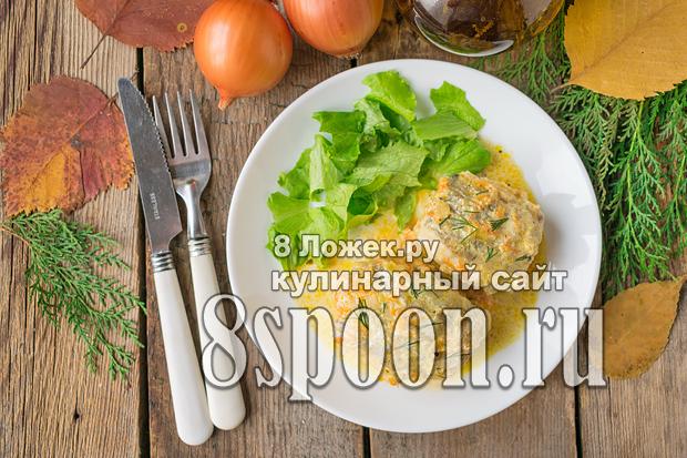Минтай в сметане на сковороде
