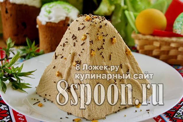 Творожная пасха с вареной сгущенкой фото_04