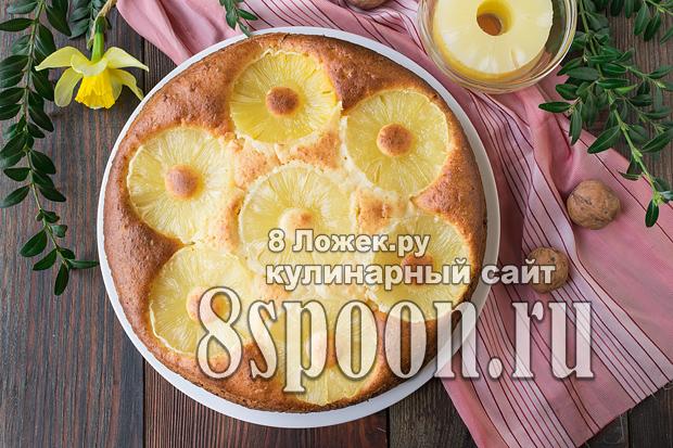 Пирог с консервированными ананасами фото_3