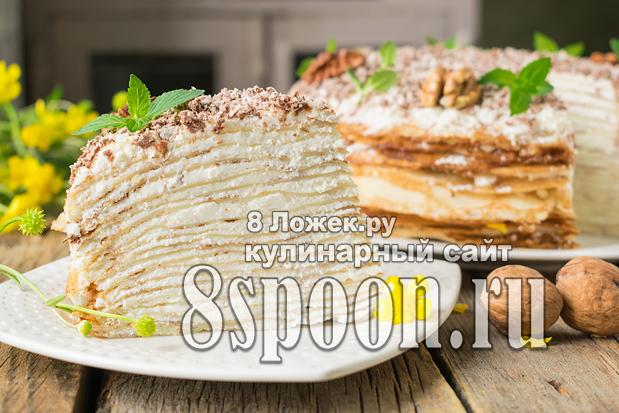 Блинный торт с творожным кремом фото_09