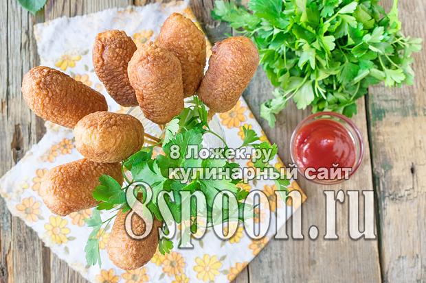 Сосиски в кляре на сковороде фото_2