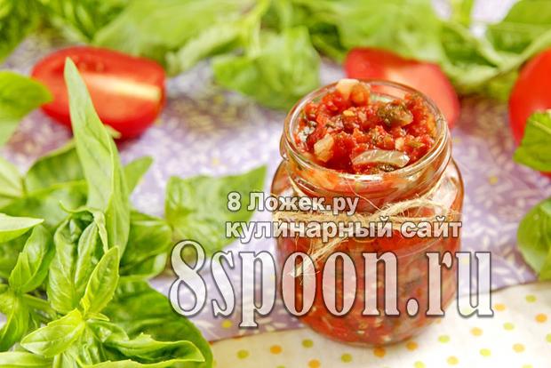 Соус к мясу на зиму из овощей и зелени фото_1