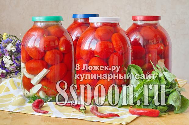 Бочковые помидоры в банке холодным рассолом фото