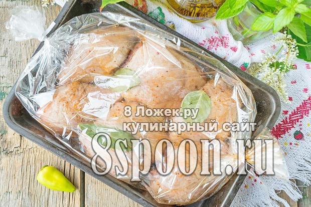 Курица в пакете для запекания в духовке фото_5