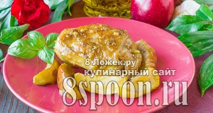 Курица с яблоками в духовке фото_1