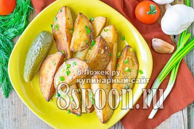 Картофель по-деревенски на сковороде фото, фото рецепт картофеля по-деревенски на сковороде