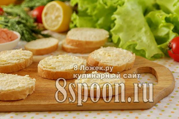 Бутерброды с хлебцами и икрой мойвы - рецепт пошаговый с фото
