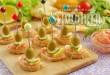 Бутерброды-канапе на шпажках с икрой мойвы фото