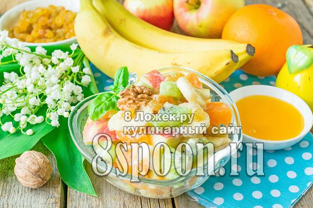 Фруктовый салат с йогуртом для детей фото