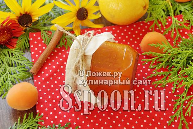 Абрикосовый джем с корицей и лимоном фото