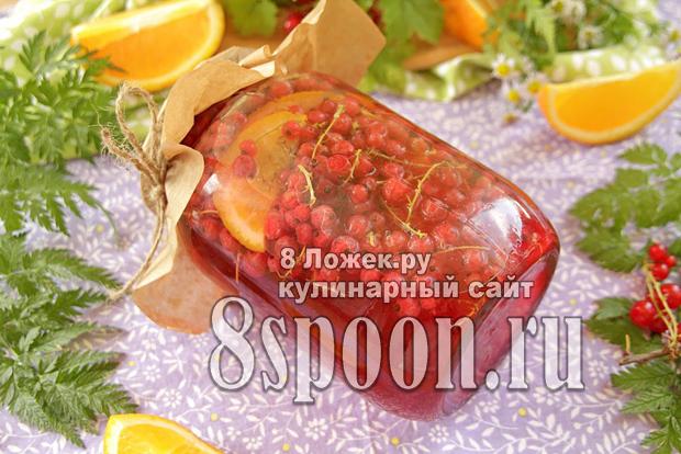 Компот из красной смородины с апельсином фото