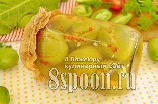 Острые зеленые помидоры по-грузински на зиму, рецепт с фото