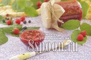 Сырое варенье из малины и черники фото