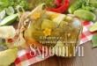 Огурцы, консервированные с патиссонами и болгарским перцем фото
