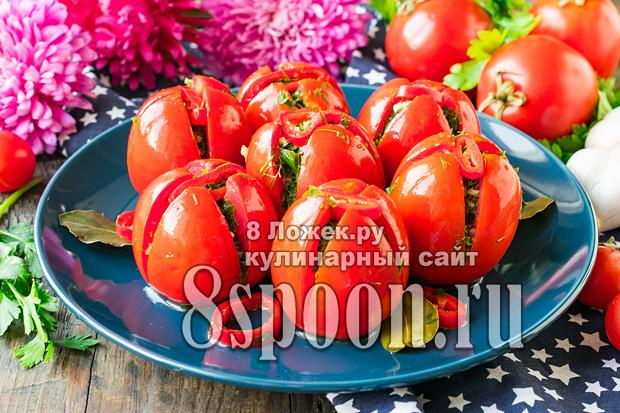 Малосольные помидоры за 1 день фото