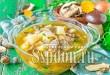 Суп из сушеных белых грибов с мукой фото