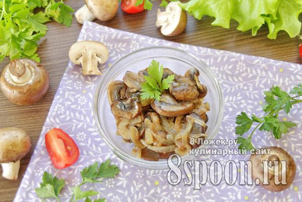Как пожарить грибы с луком на сковороде фото