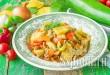 Овощное рагу с фаршем, кабачками и картофелем фото