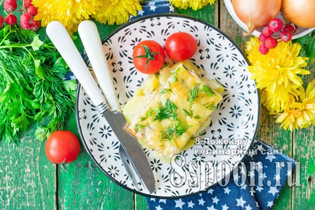 Картофель с фаршем в духовке под сыром фото 1