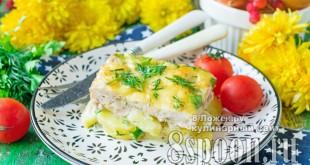Картофель с фаршем в духовке под сыром фото 2
