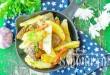 Куриная печень с картошкой на сковороде фото
