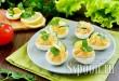 Яйца, фаршированные красной рыбой и сыром фото